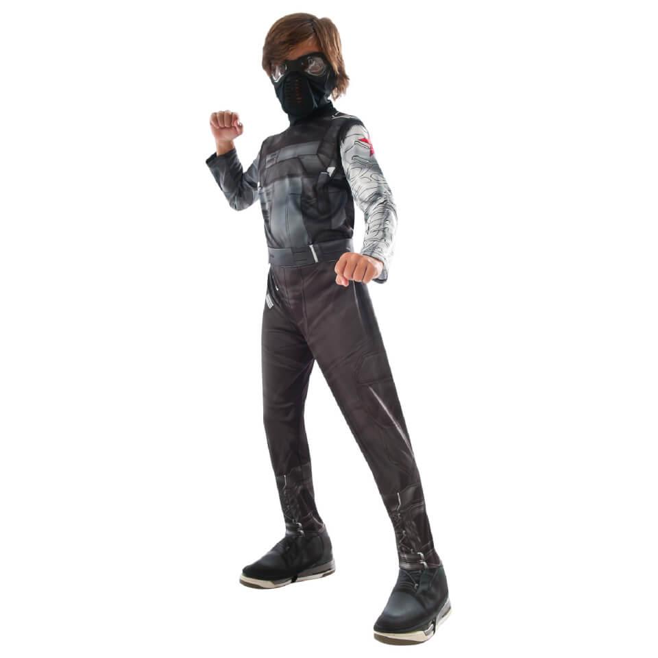 Marvel Boys' Captain America Winter Soldier Fancy Dress Costume L Schwarz