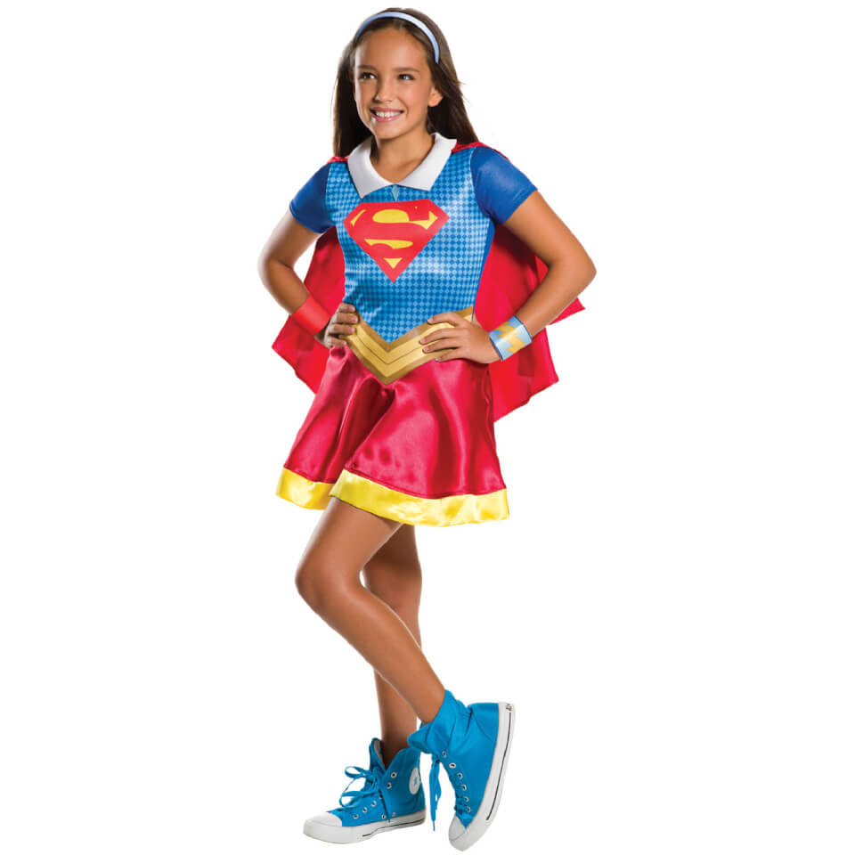 DC Comics Girls' Supergirl Fancy Dress Costume L Blue Red