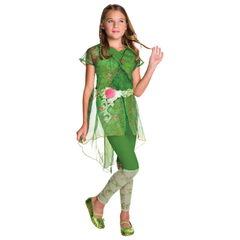 DC Comics Girls' Poison Ivy Fancy Dress Costume L Grün