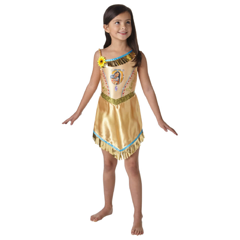 Disney Girls' Pocahontas Fancy Dress Costume S Gold