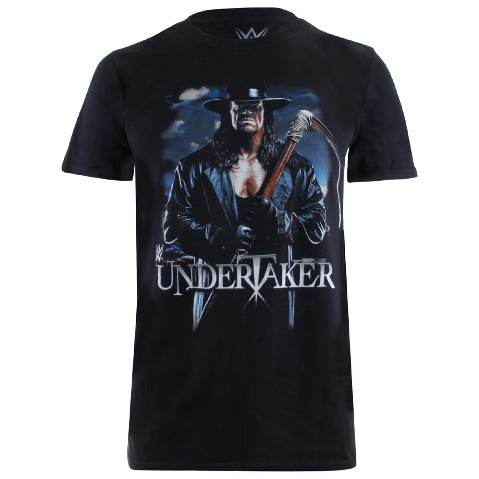 WWE Men's Undertaker Scythe T Shirt Black L