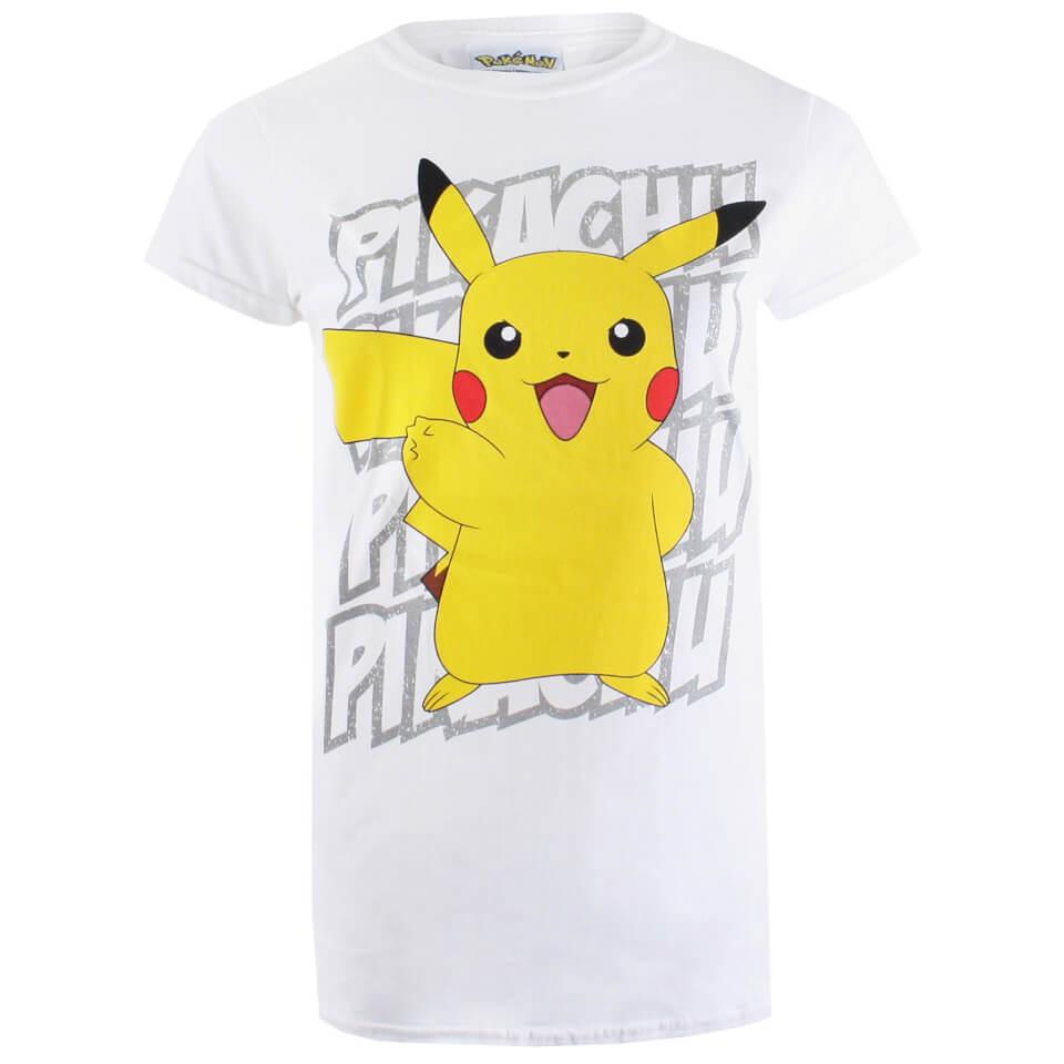 Pokemon Wo Pikachu Victory Männer T Shirt Weiß XL Weiß