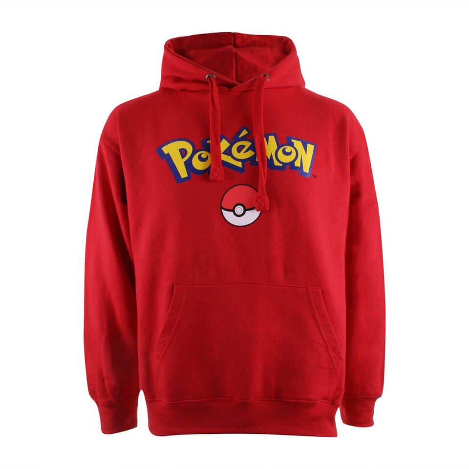 Pokemon Men's Logo Hoody Red XL Rot