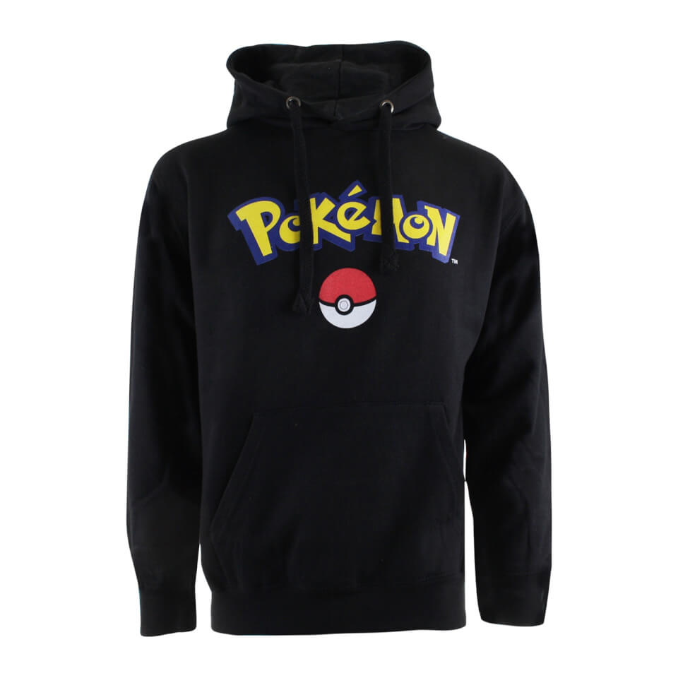 Pokemon Men's Logo Hoody Black XL Schwarz