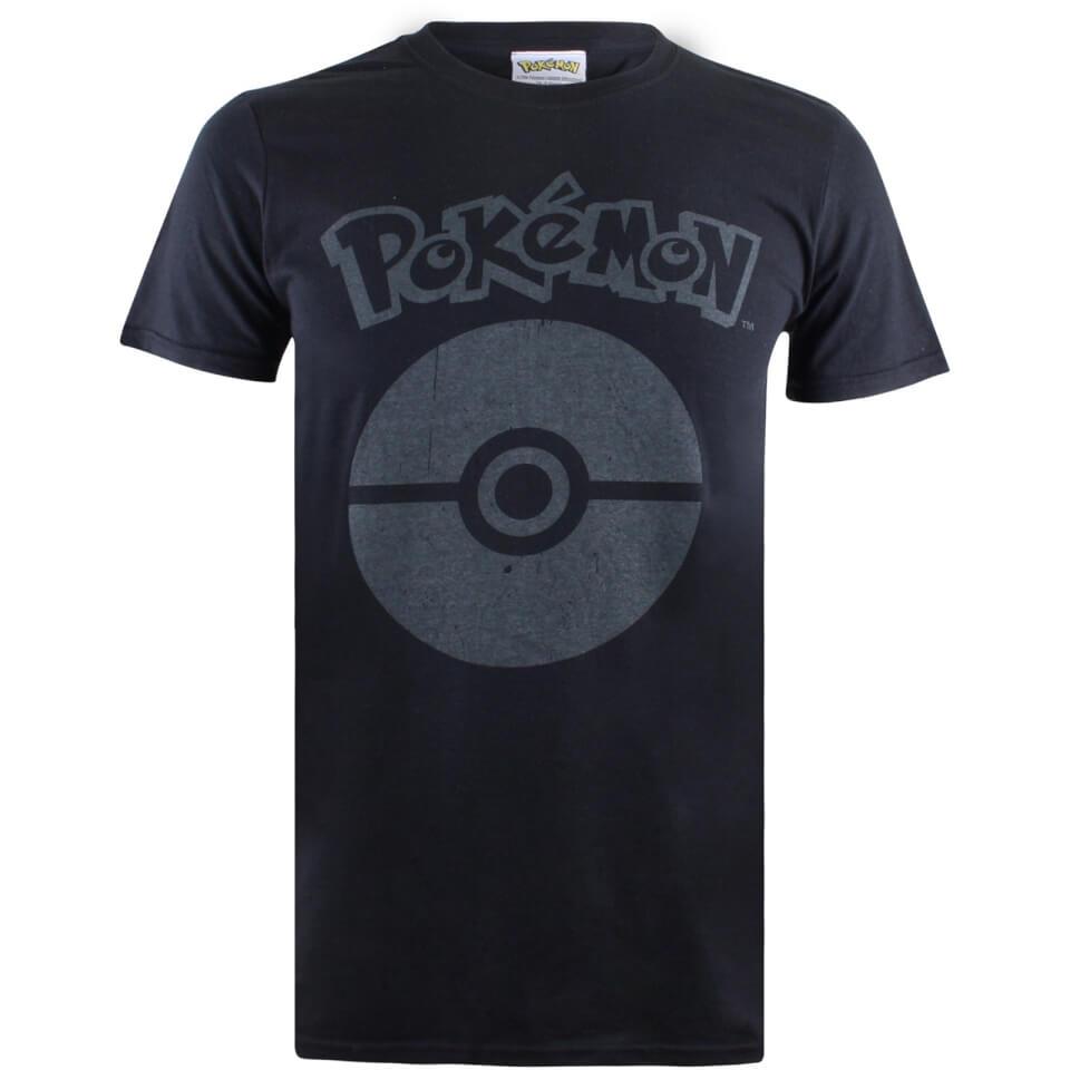 Pokemon Men's Pokeball Symbol T Shirt Black XL
