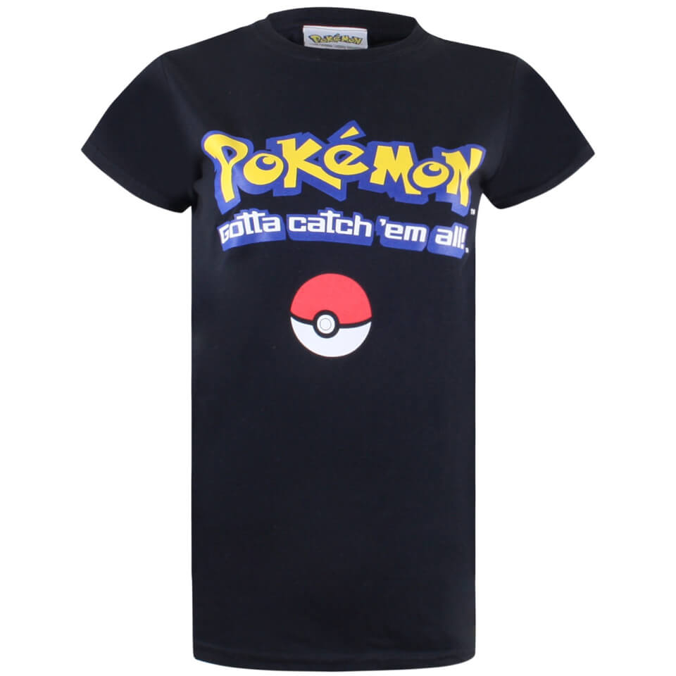 Pokemon Herren Gotta Catch Em All Logo T Shirt Schwarz XL Schwarz