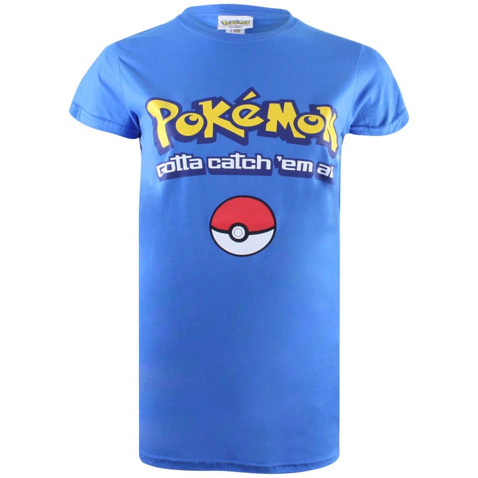 Pokemon Herren Gotta Catch Em All Logo T Shirt Royal Blau XL Blau
