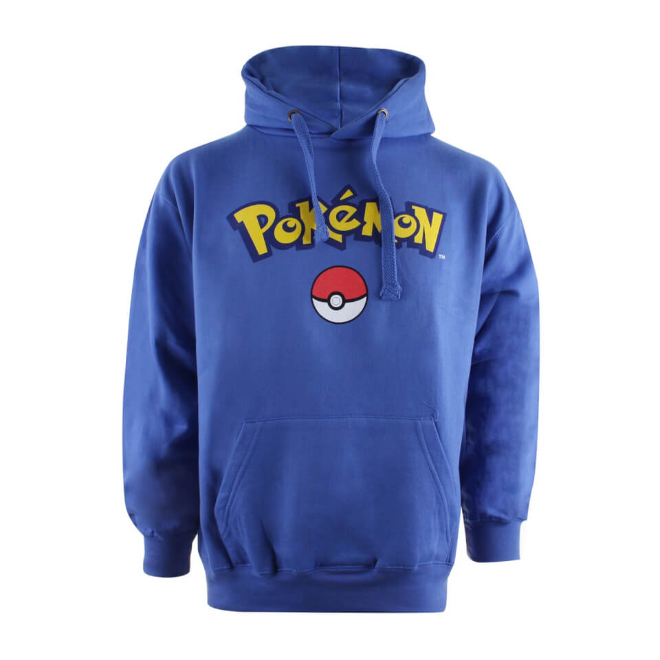 Pokemon Men's Logo Hoody Royal Blue XL Blau