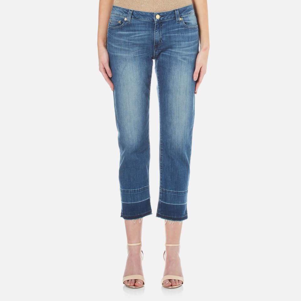 Michael Kors Womens Released Hem Straight Leg Jeans Vintage Blue Wash Uk 8/us 4