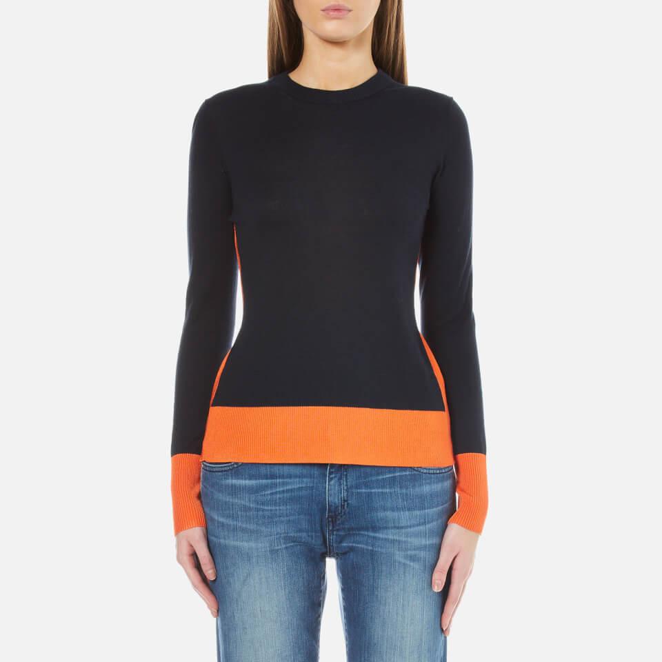 Michael Michael Kors Womens Contrast Colour Rib Sweatshirt Poppy L