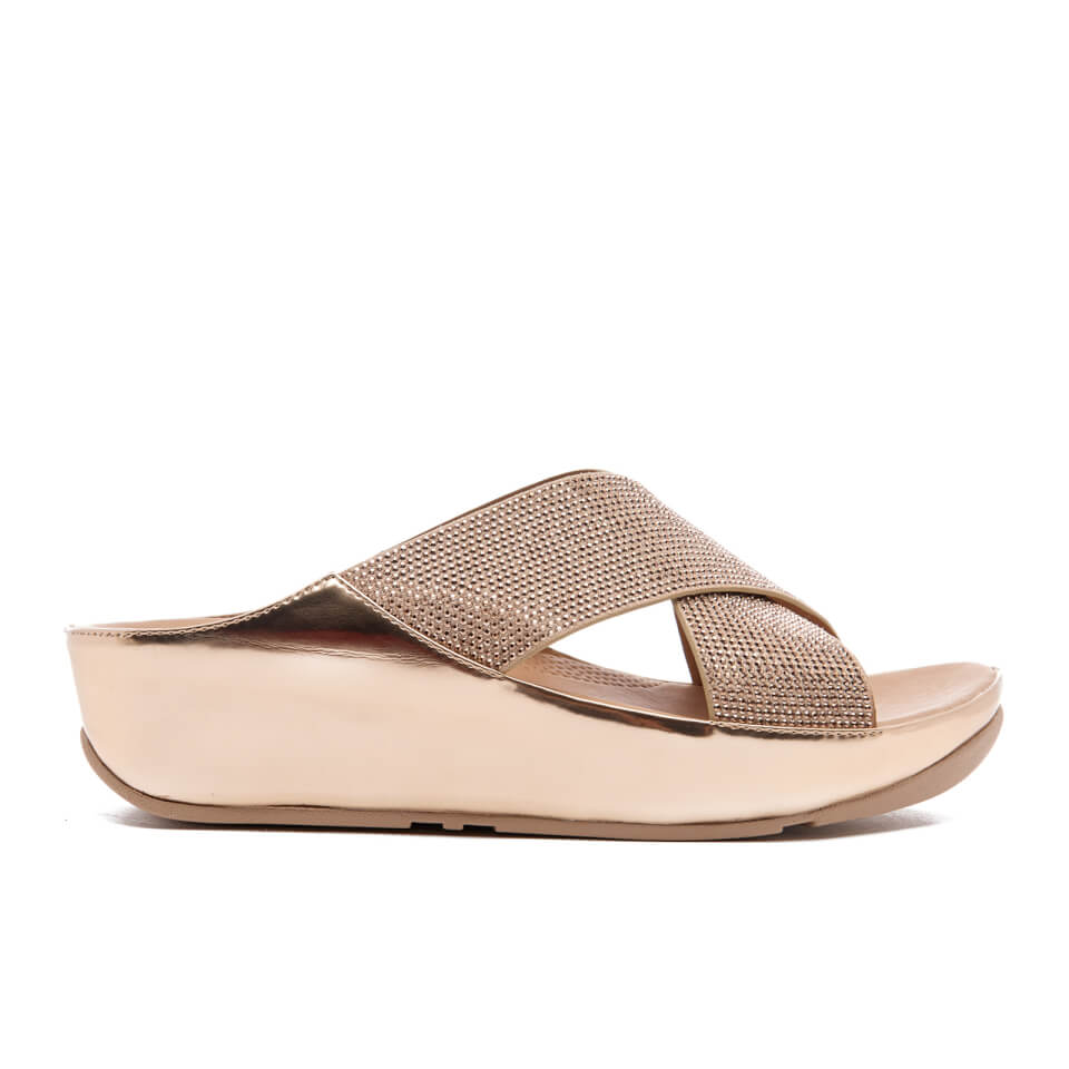 5450acdc3efd8a FitFlop Women s Crystall Slide Sandals - Rose Gold Womens Accessories
