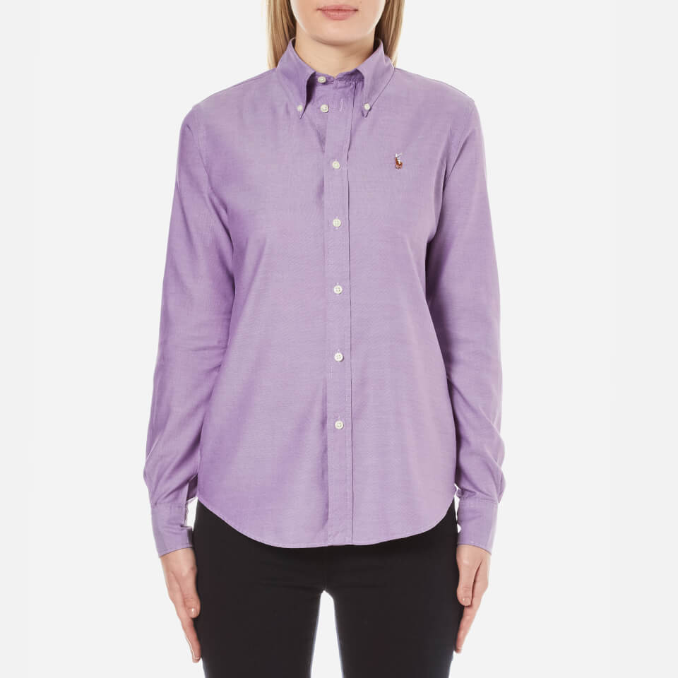 Polo Ralph Lauren Womens Harper Shirt Bright Purple Uk 10/us 6