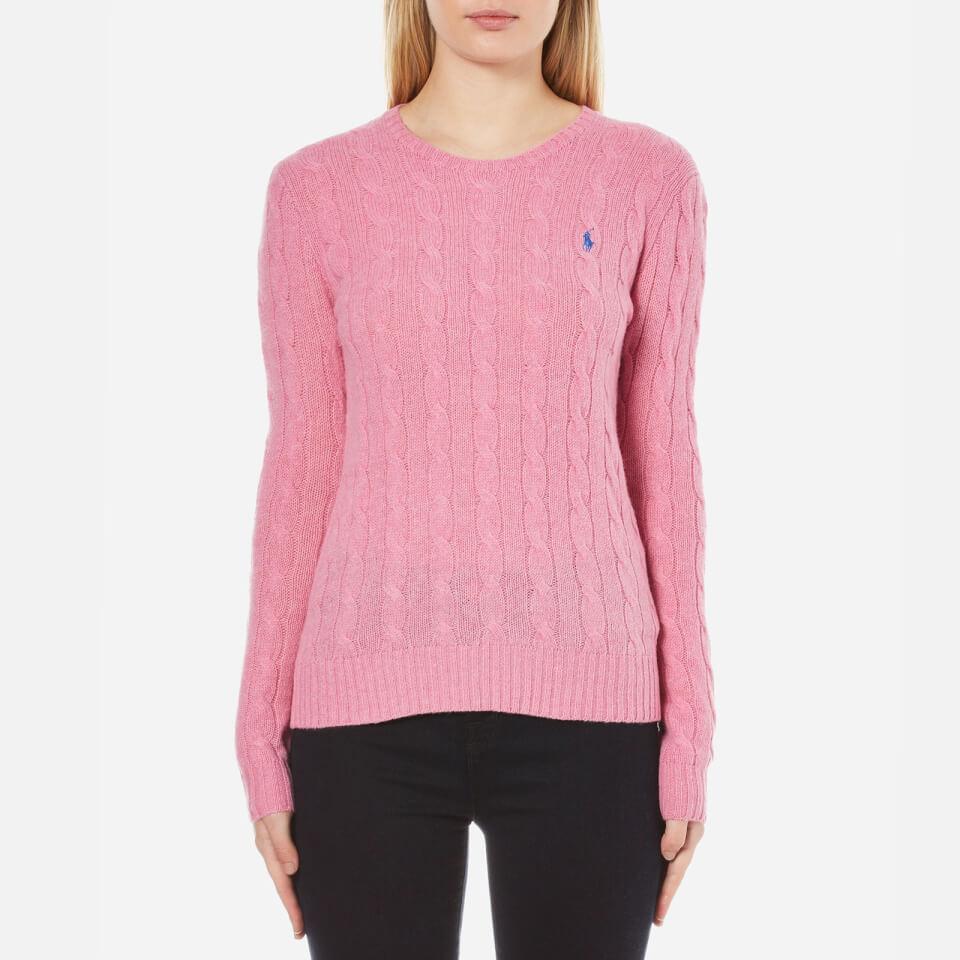 Polo Ralph Lauren Women s Julianna Crew Neck Jumper Cashmere Blend - Wesley  Pink Heather - Free UK Delivery over £50 49f390ee2ffc