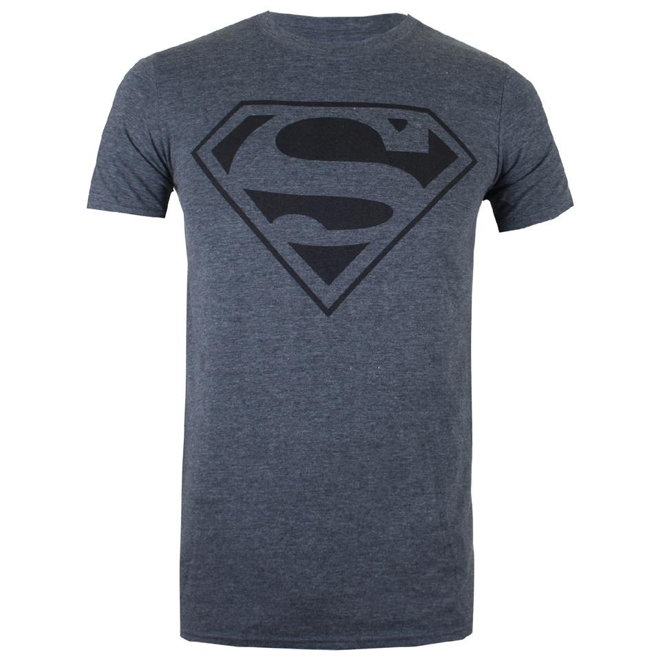 DC Comics Men's Superman Mono T Shirt Dark Heather XXL