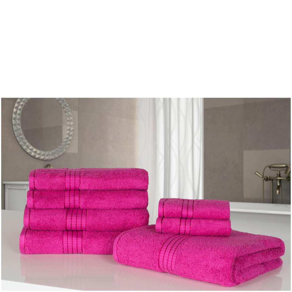 highams-100-egyptian-cotton-7-piece-towel-bale-fuchsia