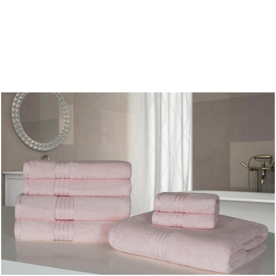 highams-100-egyptian-cotton-7-piece-towel-bale-500gsm-pale-pink