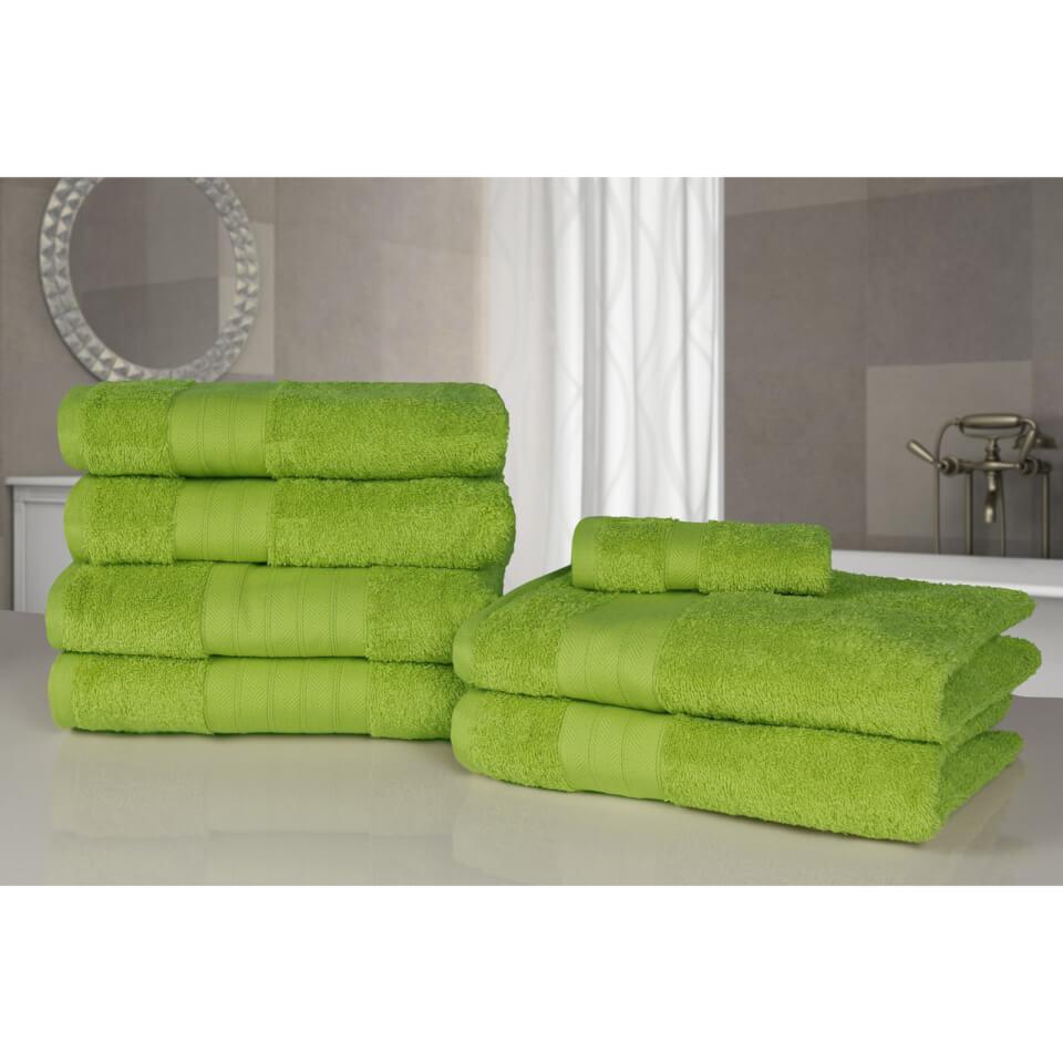 highams-100-egyptian-cotton-7-piece-towel-bale-lime-green