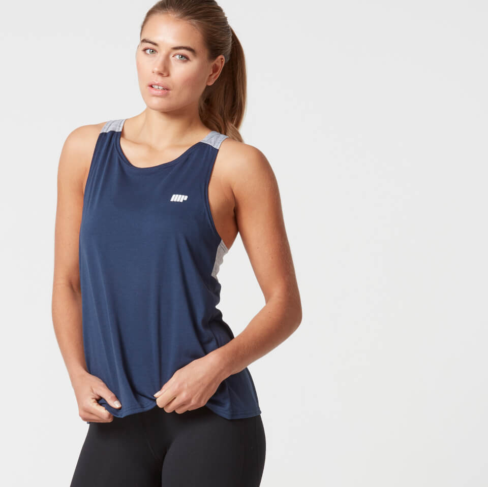 myprotein-women-open-back-top-navy-xs