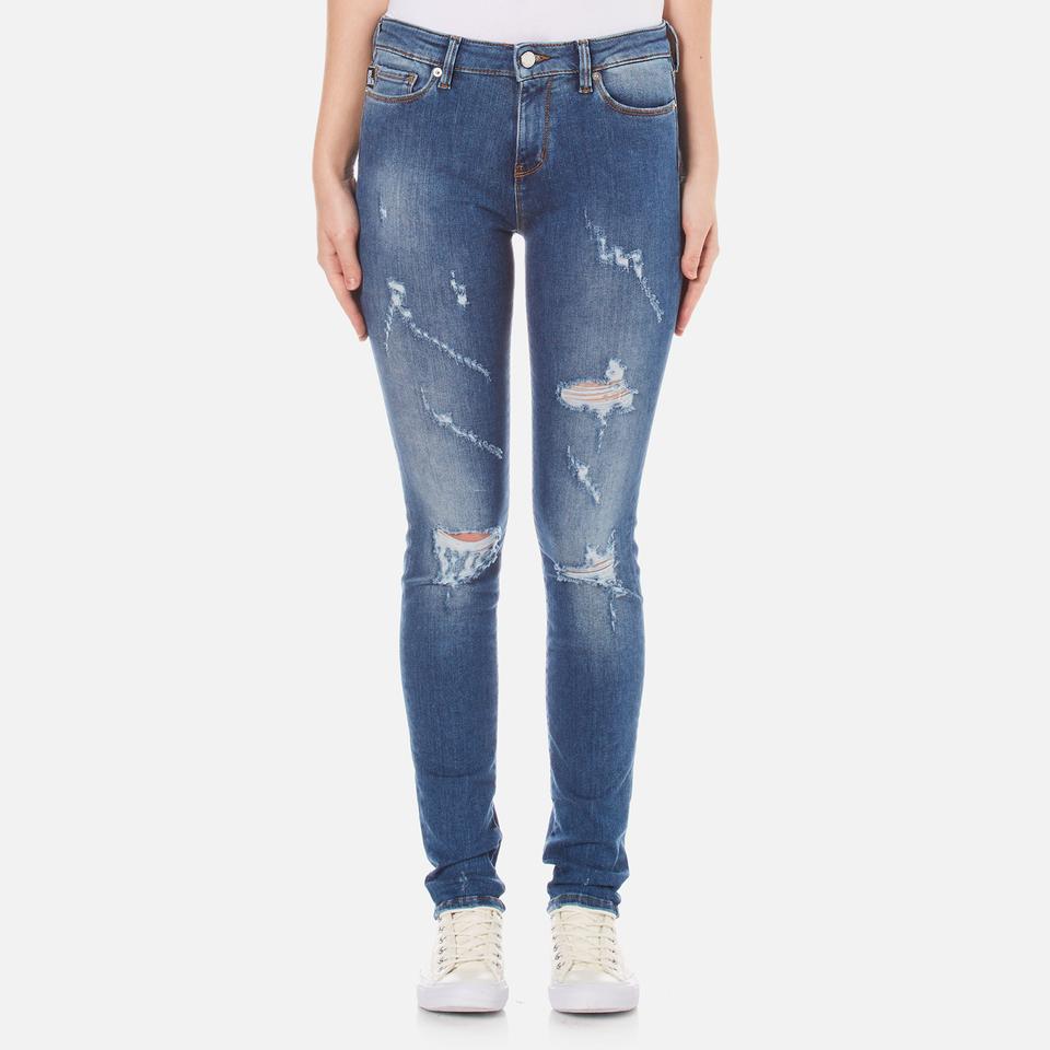 Love Moschino Womens 5 Pocket Skinny Fit Jeans Denim W27