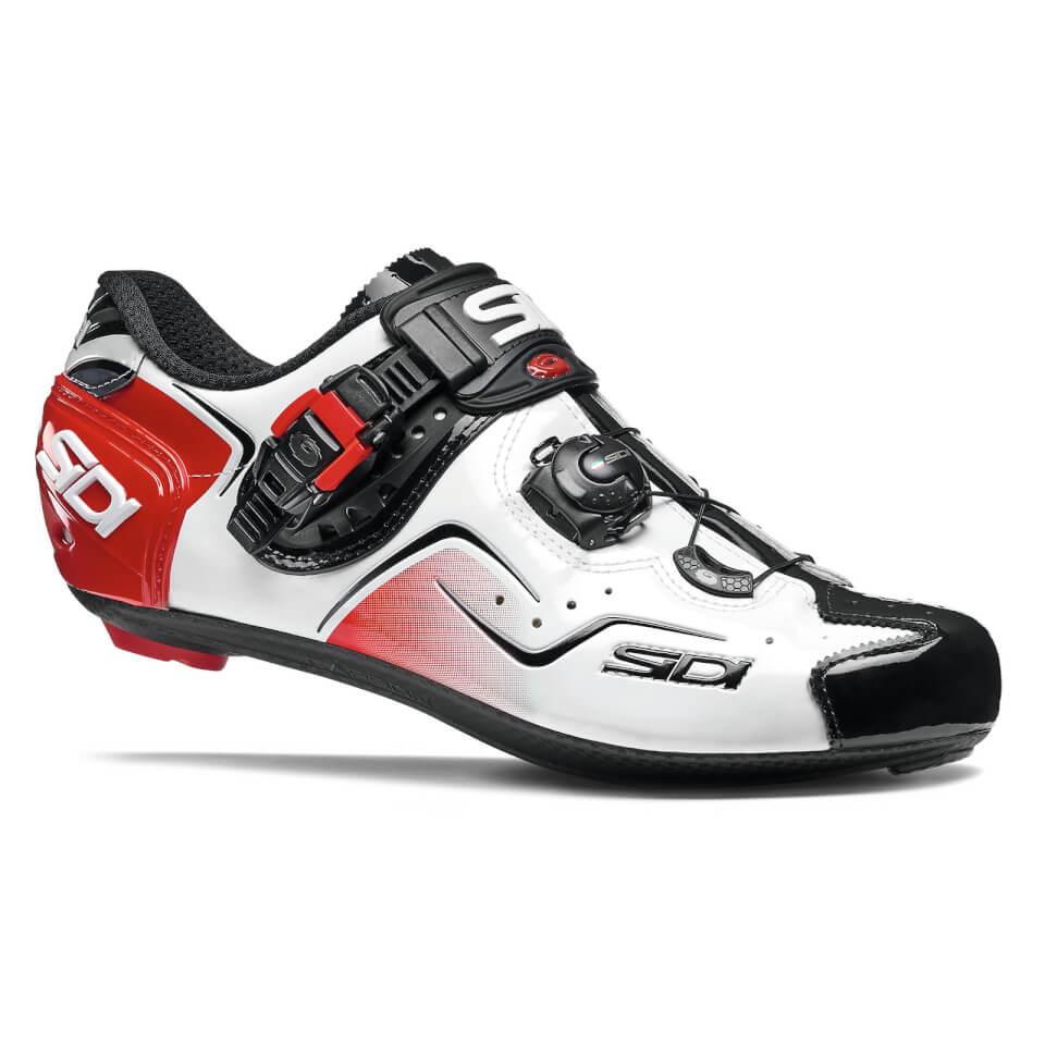 Sidi Kaos Road Shoes - White/Black/Red - EU 40.5 - White/Black/Red