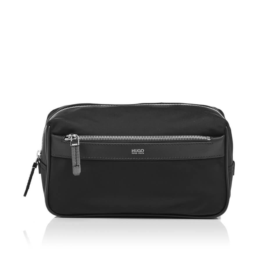 hugo-men-digital-nylon-wash-bag-black