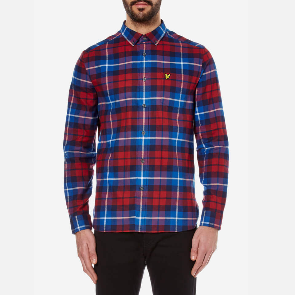 lyle-scott-men-check-flannel-shirt-navy-red-s