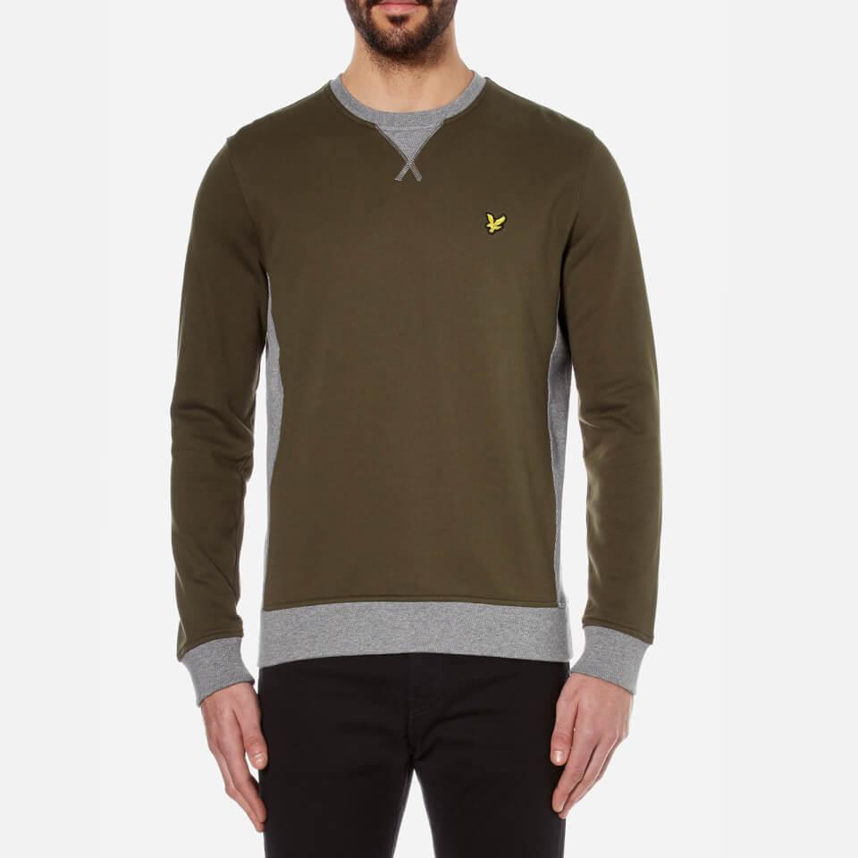 lyle-scott-men-contrast-rib-crew-neck-sweatshirt-dark-sage-s