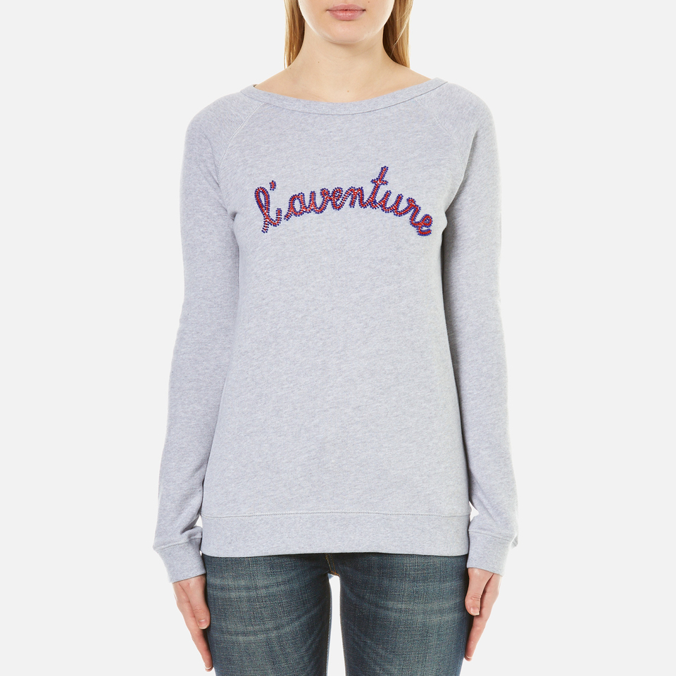 Maison Labiche Womens Laventure Sweatshirt Gris Chine L