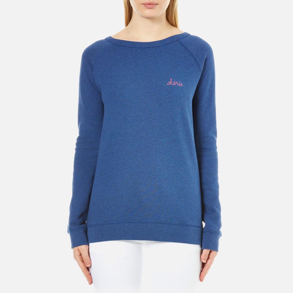 Maison Labiche Womens Cherie Sweatshirt Bleu Outremer M