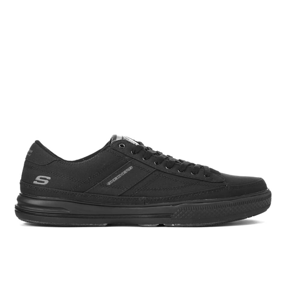skechers-men-arcade-chat-low-top-canvas-trainers-black-7