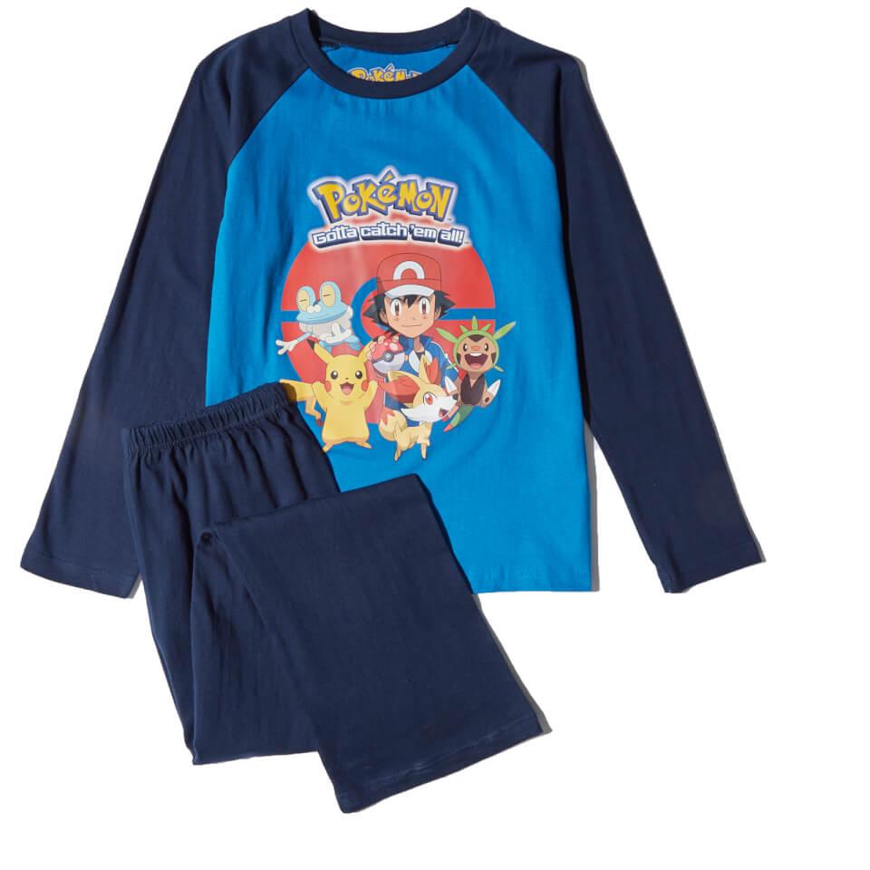 Pokemon Boys' Graphic Print Pyjamas Blue 5 6 Years