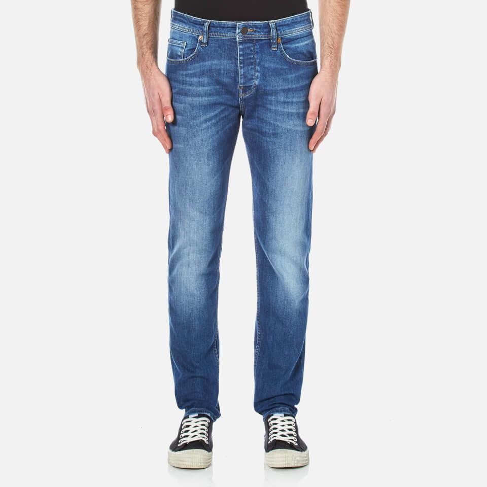 Boss Orange Mens Orange 90 Tapered Jeans Bright Blue W30/l32