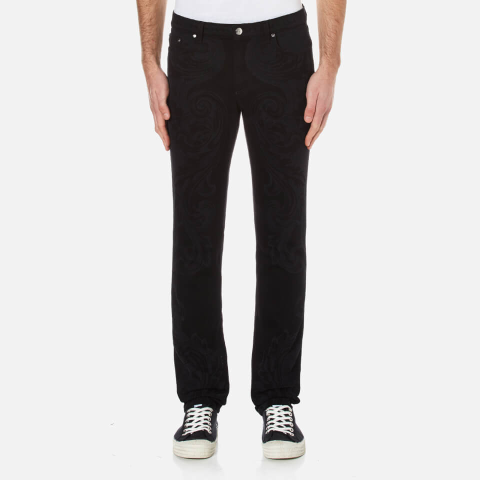 Versace Collection Mens All Over Print Jeans Black W30