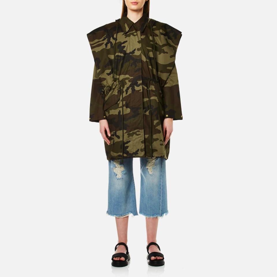 Mm6 Maison Margiela Womens Oversized Camouflage Parka Military Camouflage It 38/uk 6