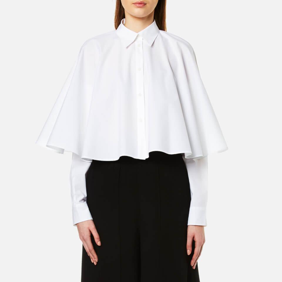 Mm6 Maison Margiela Womens Cropped Cape Shirt White It 40/uk 8