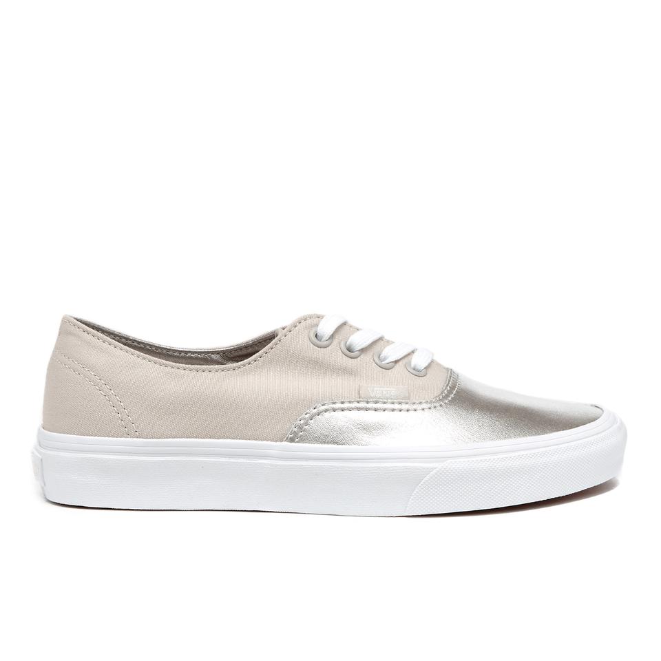 vans-women-authentic-decon-metallic-canvas-trainers-silver-6