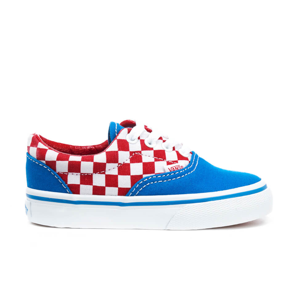 Vans Toddlers' Era Checkerboard Trainers - Racing Red/Imperial Blue - UK 7 Toddlers