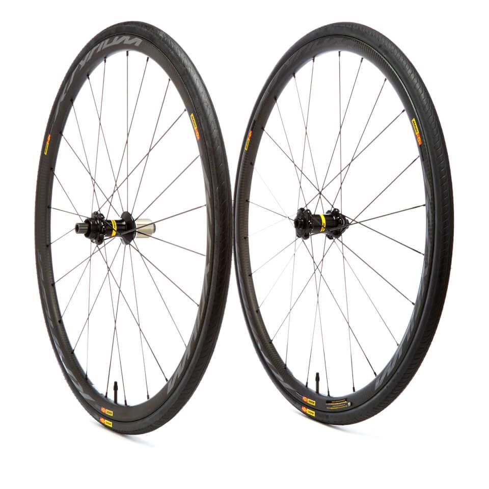 mavic-ksyrium-pro-carbon-sl-disc-clincher-wheelset-25mm-shimanosram-6-bolt