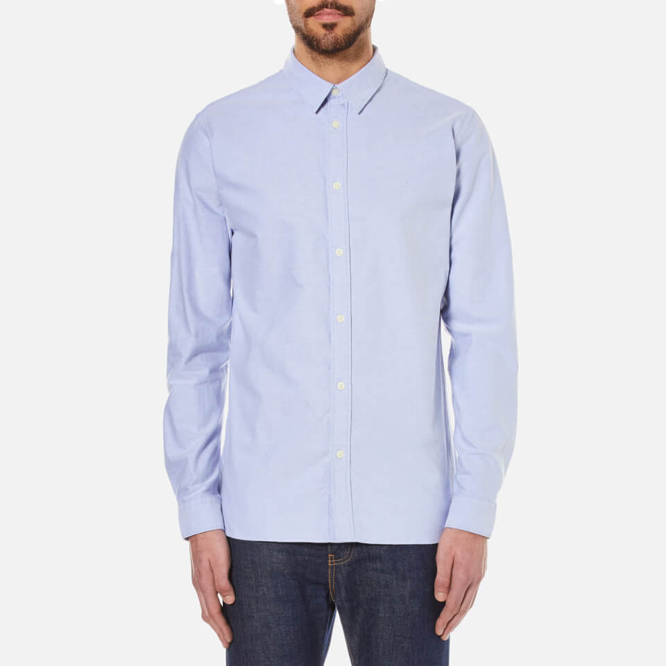 selected homme s done vince shirt light blue mens
