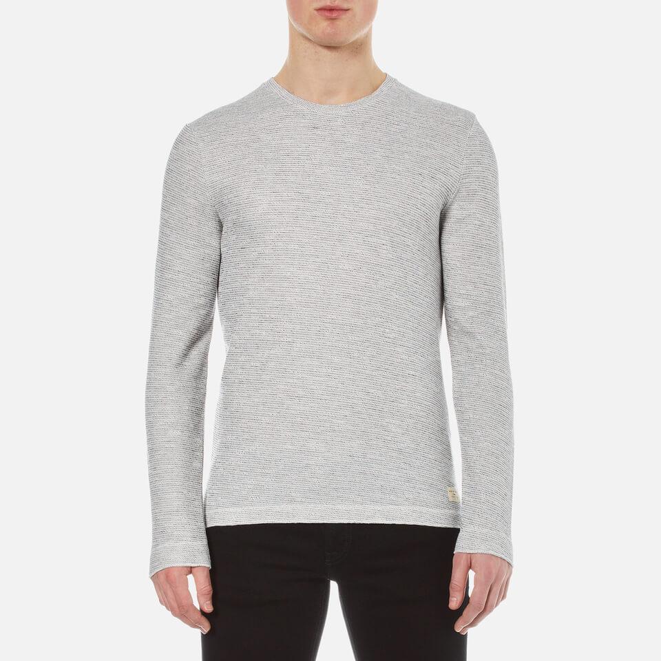 Selected Homme Mens Thomas Crew Neck Sweatshirt Egret Xl