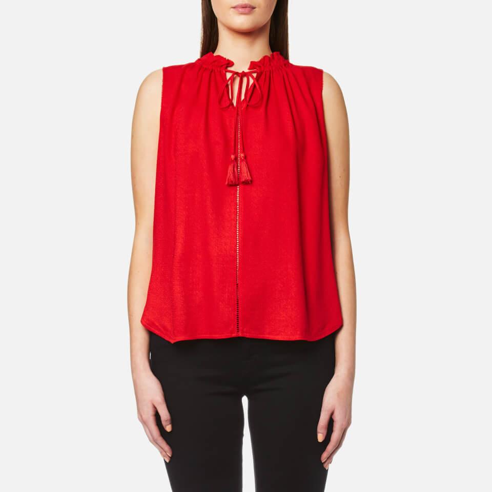 maison-scotch-women-sleeveless-top-with-ruffle-neckline-ruffle-inserts-red-2-10
