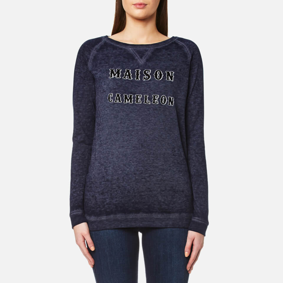 Maison Scotch Womens Burnout Sweatshirt Grey 2/uk 10