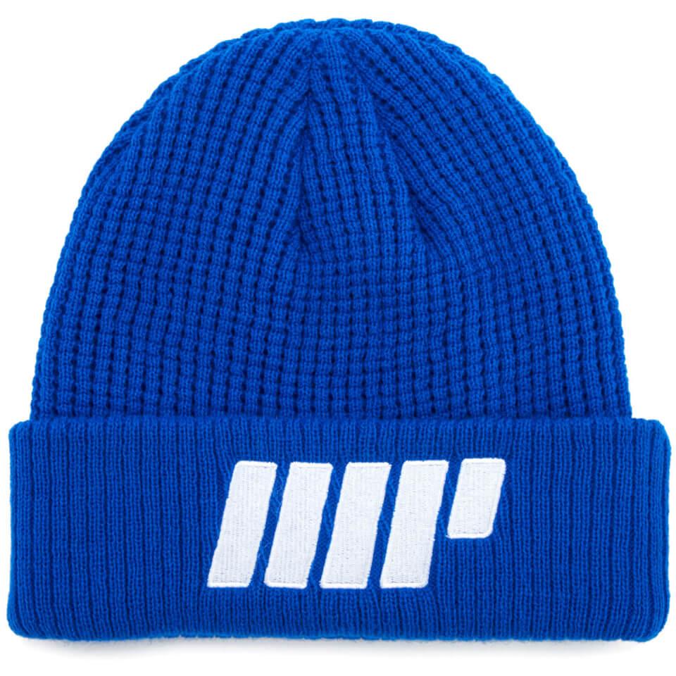 knitted-beanie-blue