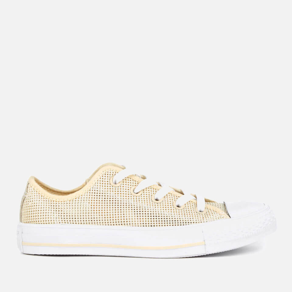 Converse Womens Chuck Taylor All Star Ox Trainers Natural/frayed Burlap/white Uk 6