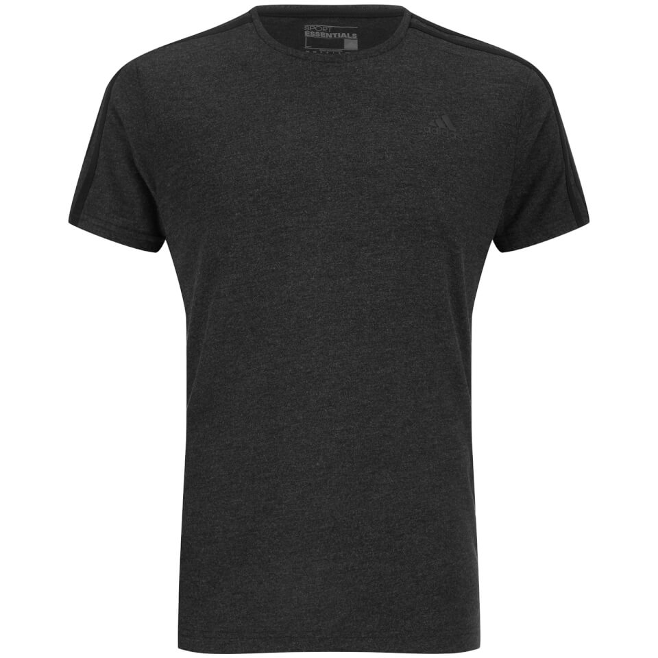adidas-men-sports-essential-3-stripe-t-shirt-charcoal-s