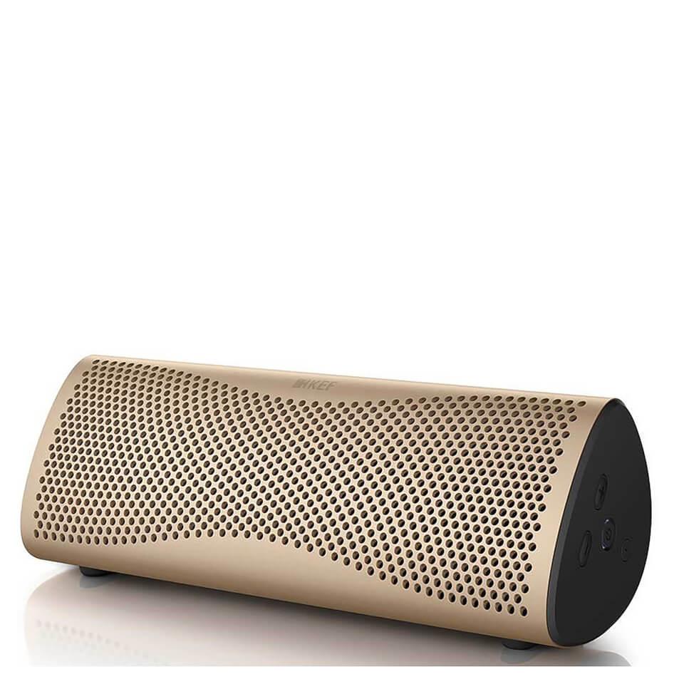 KEF MUO Bluetooth Speaker Gold