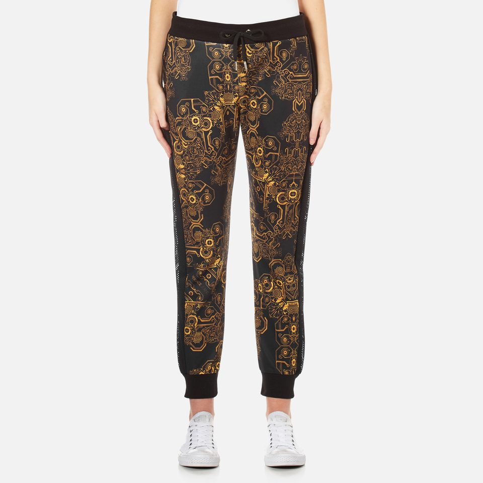Versace Jeans Womens Multi Print Joggers Black M