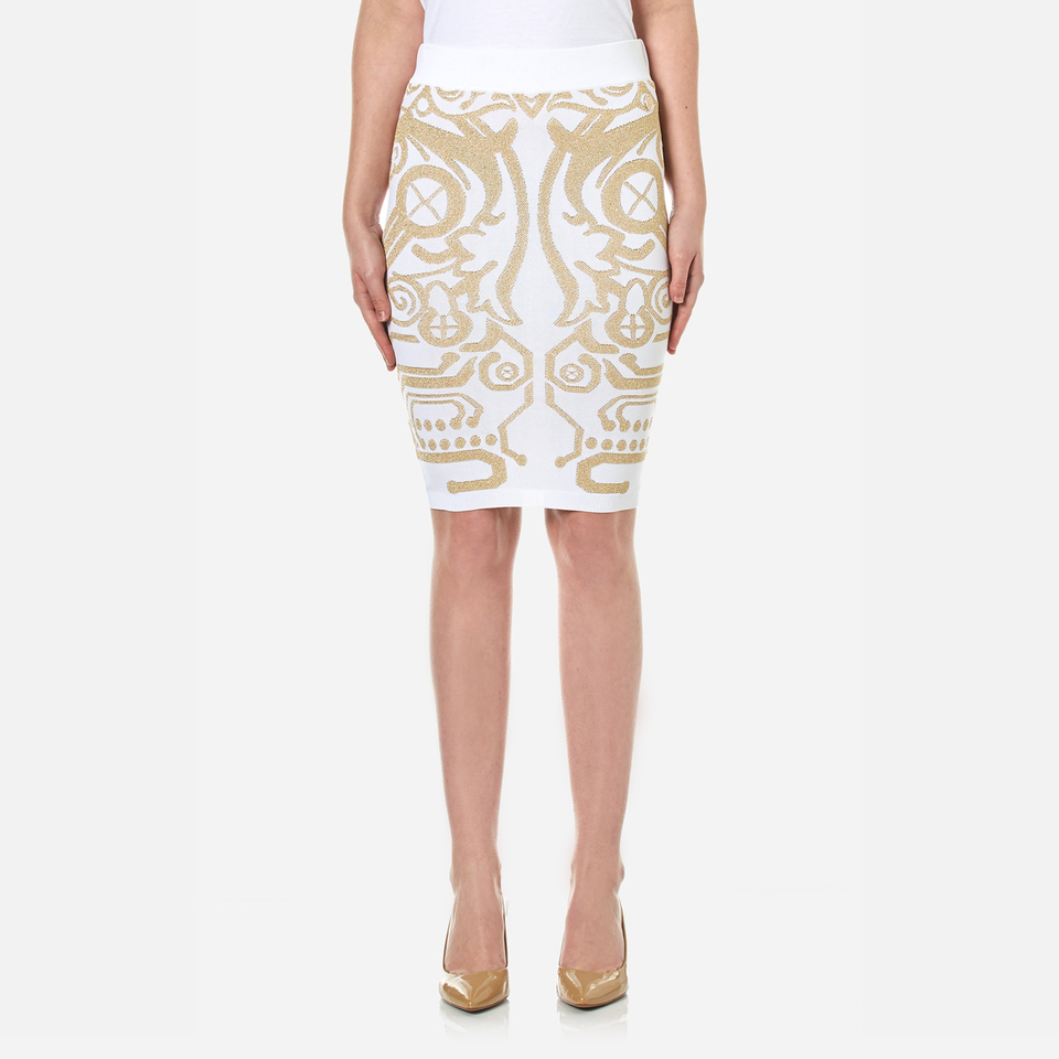 Versace Jeans Womens Knitted Skirt White M