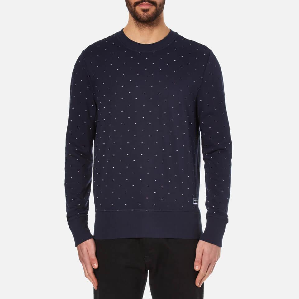 Tommy Hilfiger Mens Icon Tommy Mini Flag Sweatshirt Navy Blazer M