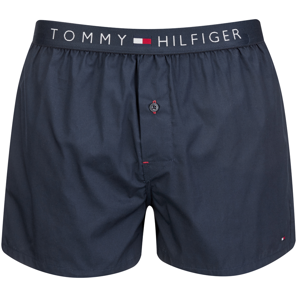tommy hilfiger men 39 s icon cotton woven boxer shorts navy. Black Bedroom Furniture Sets. Home Design Ideas